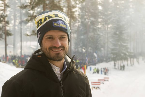 Prince Carl Phillip from Sweden seen at Torsby stage during Sweden Rally photo Red Bull